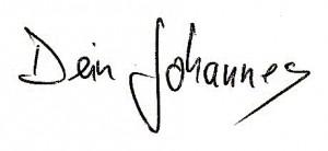 Unterschrift Johannes